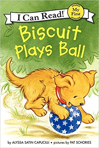 "Book cover for ""Biscuit Plays Ball"""