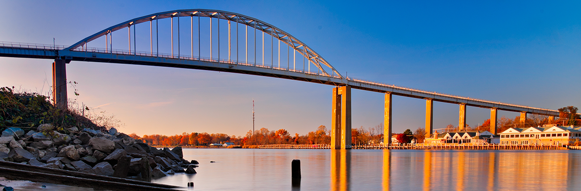 Photo of the Chesapeake City Canal Bridge