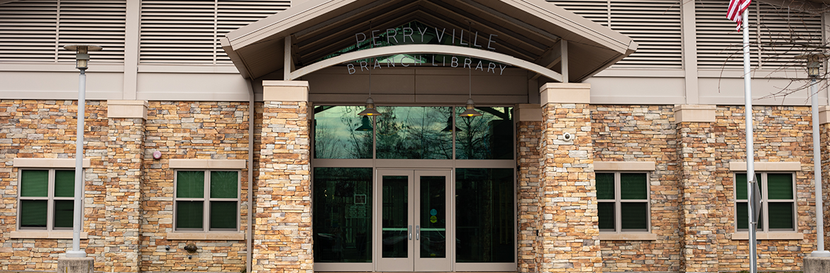 Perryville branch library exterior header