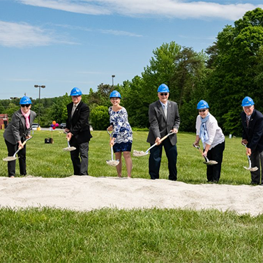 Board at the groundbreaking ceremony