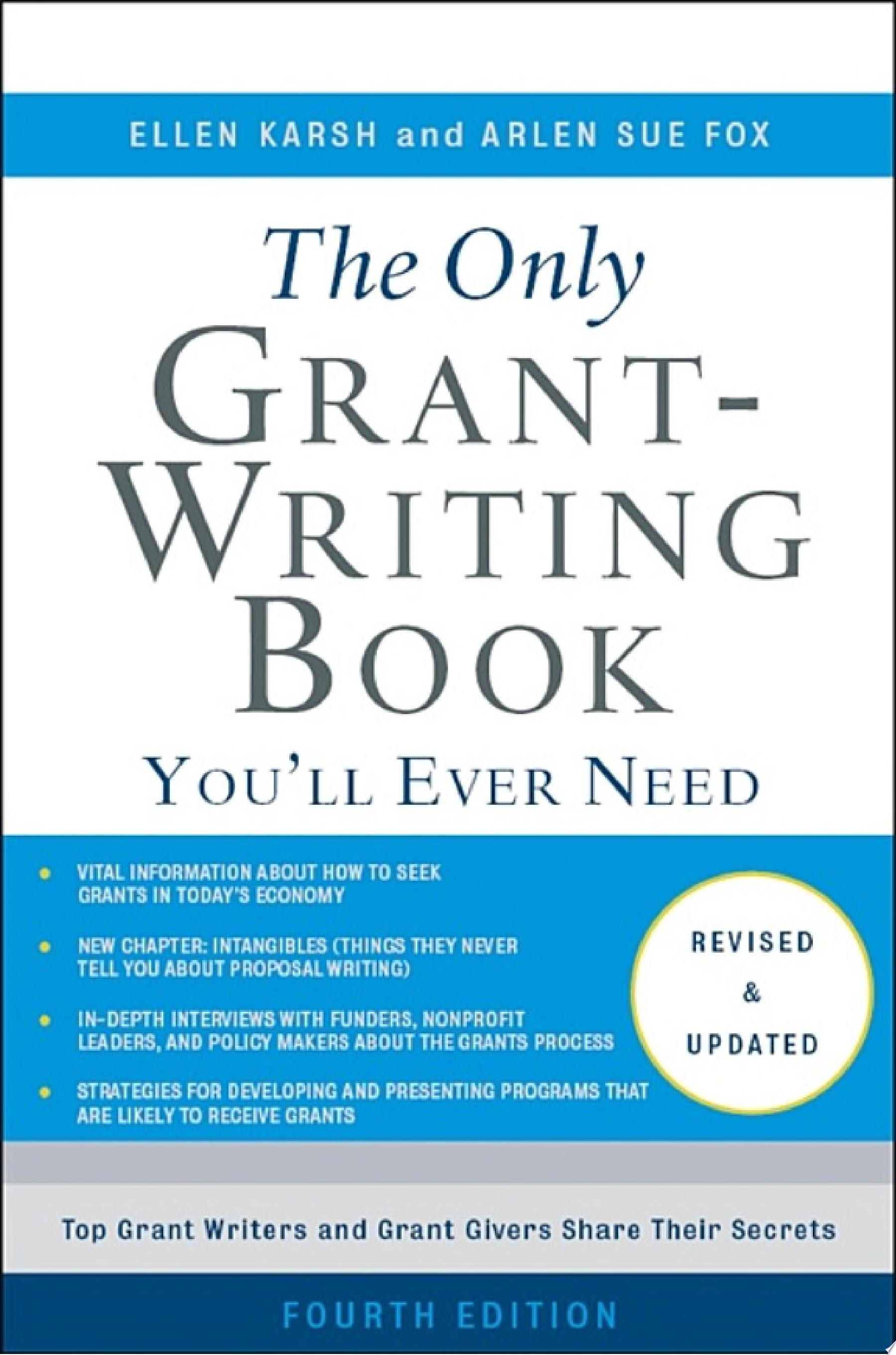 "Image for ""The Only Grant-Writing Book You'll Ever Need"""