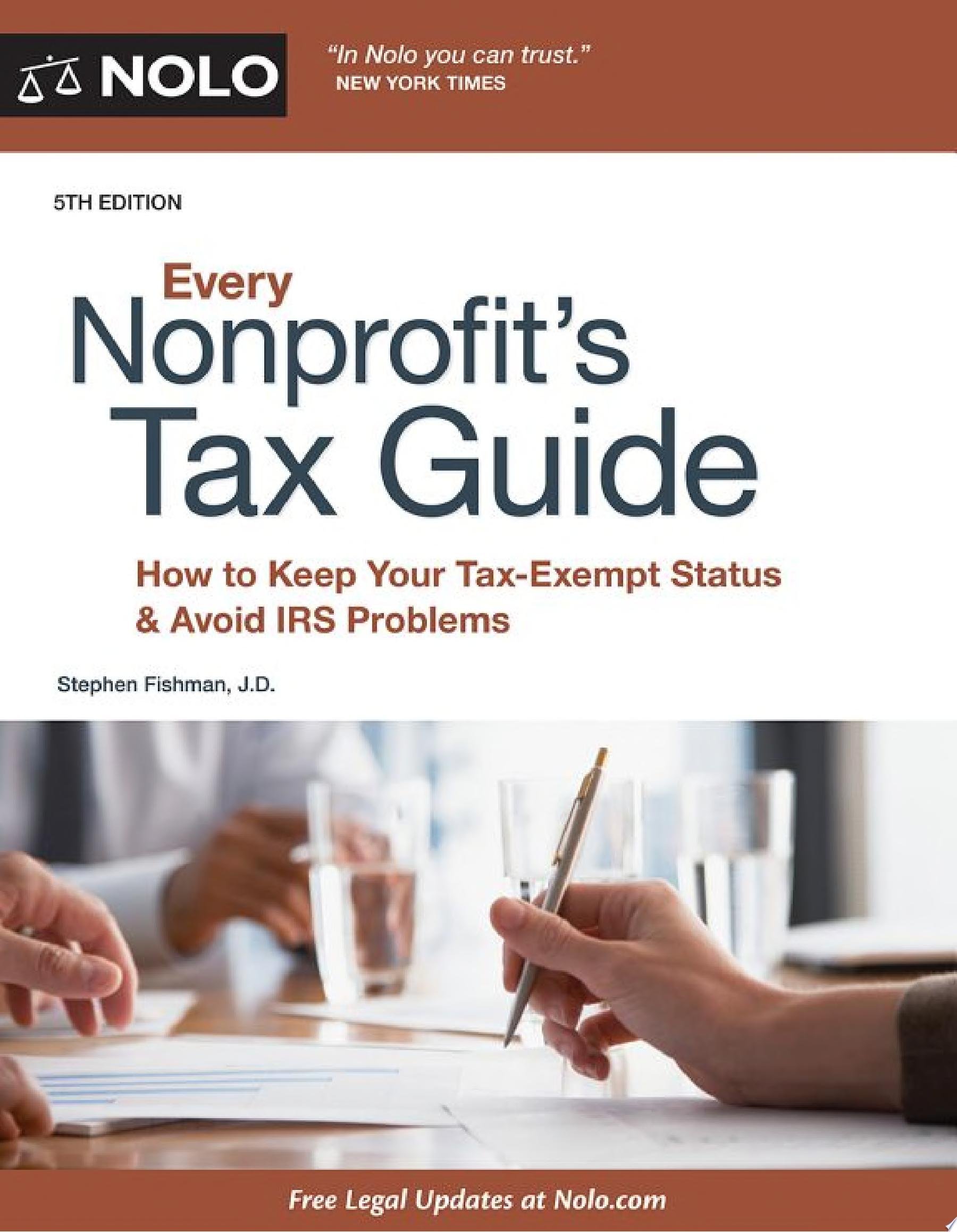 "Image for ""Every Nonprofit's Tax Guide"""
