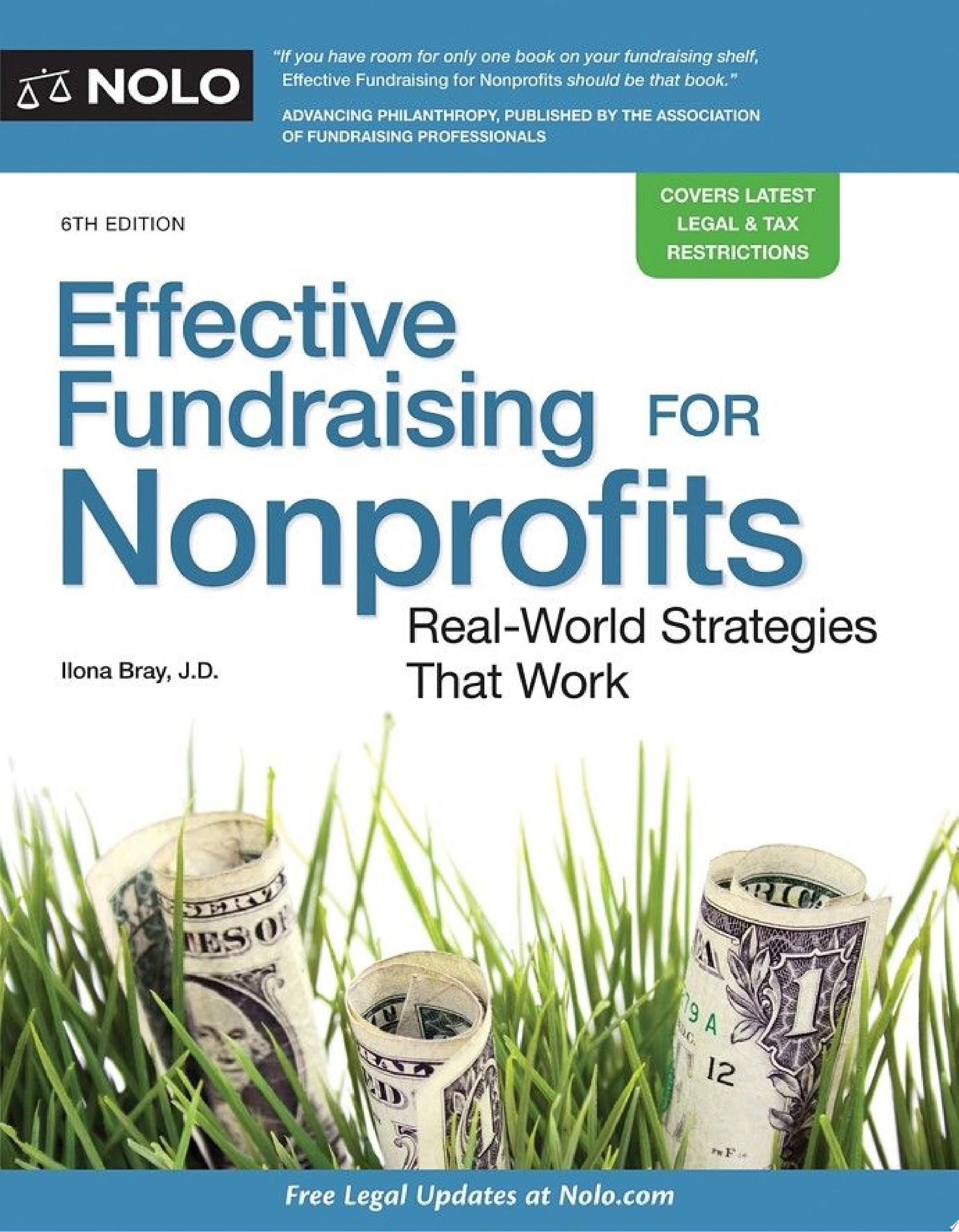 "Image for ""Effective Fundraising for Nonprofits"""