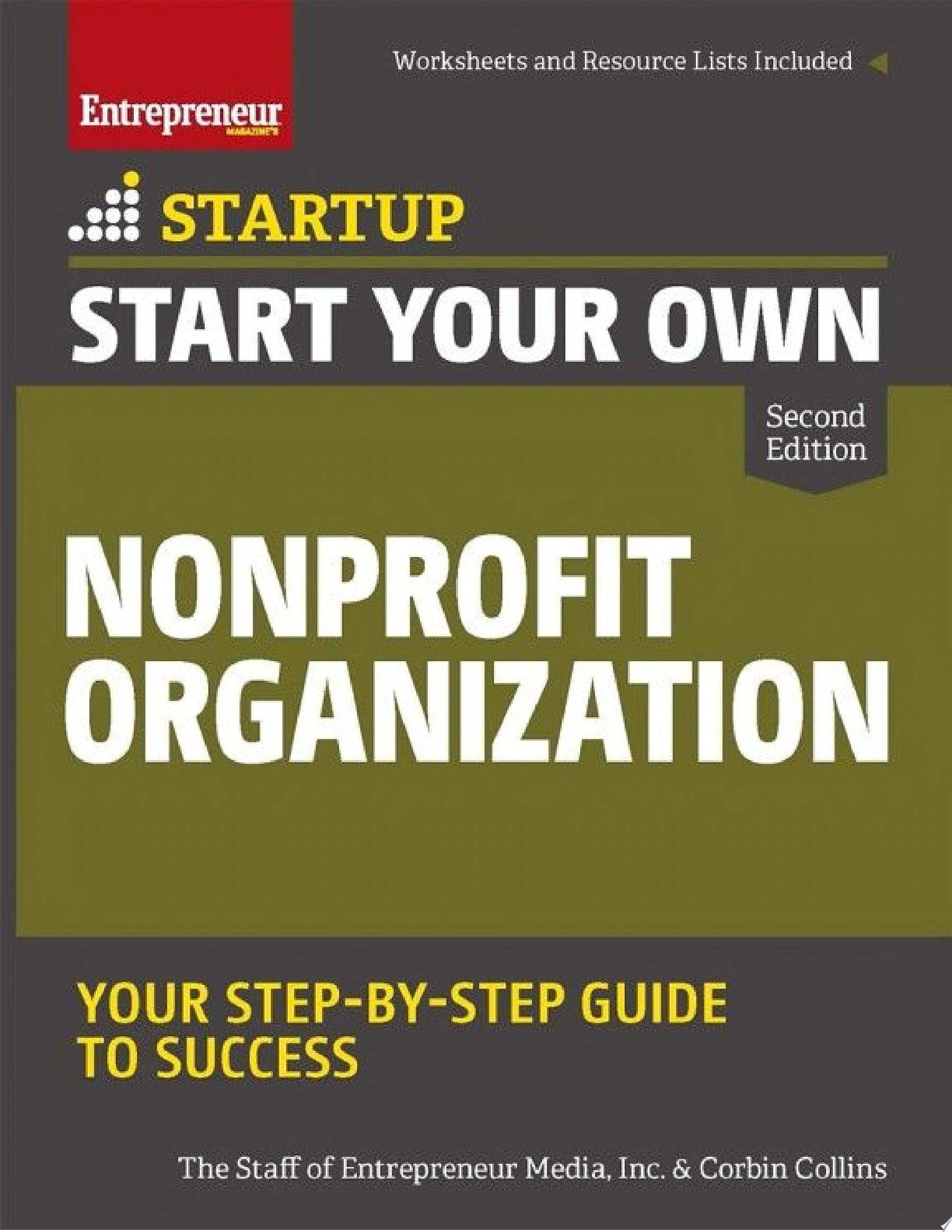 "Image for ""Start Your Own Nonprofit Organization"""