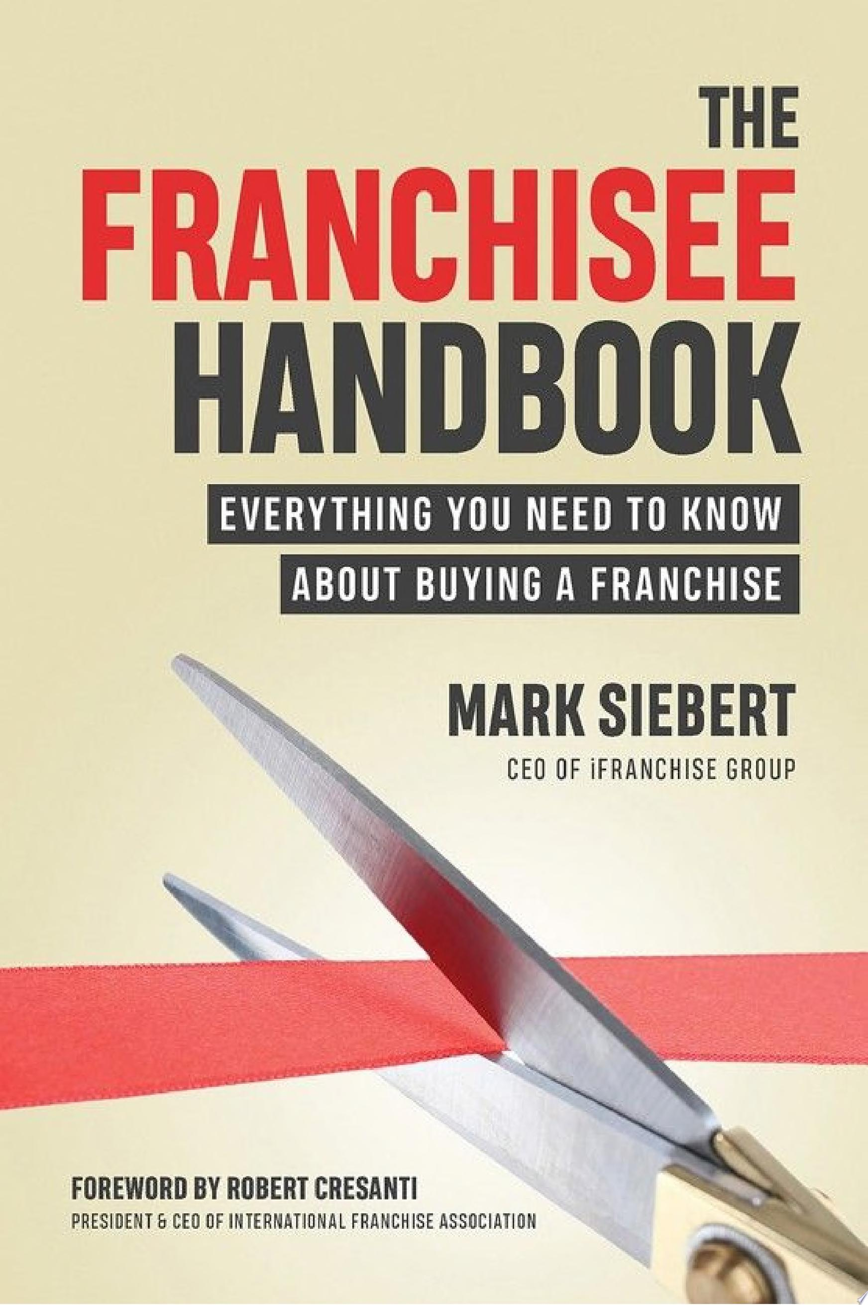 "Image for ""The Franchisee Handbook"""